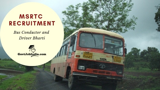 MSRTC Vahak Chalak Bharti 2019 - Apply online Now