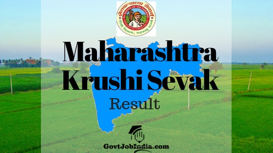 Maha Krushi Sevak Result Cut off and Merit list