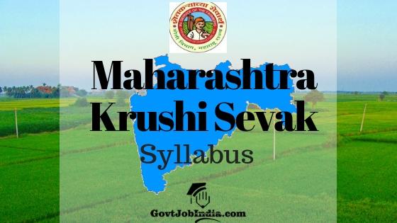 Maha Krushi Sevak Syllabus