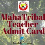 Adivasi Vikas teacher Bharti Admit Card