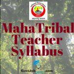 Mahatribal Teacher Syllabus