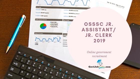 Odisha Junior Assistant / Junior Clerk recruitment 2019