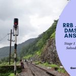 RRB Stage and Stage 2 JE, JE (IT) DMS and CMA ANSWER KEY