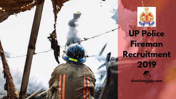UP Police Fireman Recruitment 2019