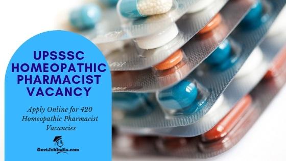 UPSSSC HOMEOPATHIC PHARMACIST recruitment Vacancy 2019 Apply Online