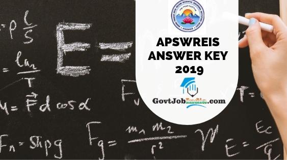 APSWREIS ANSWER KEY 2019