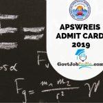 AP Social Welfare Recruitment Admit Card 2019