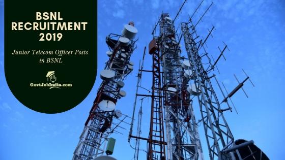 BSNL RECRUITMENT 2019 - Apply online