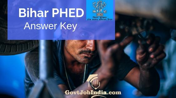 Bihar PHED Junior Engineer Answer Key