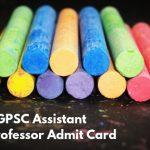 CGPSC Admit Card 2019