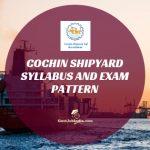Cochin Shipyard Syllabus