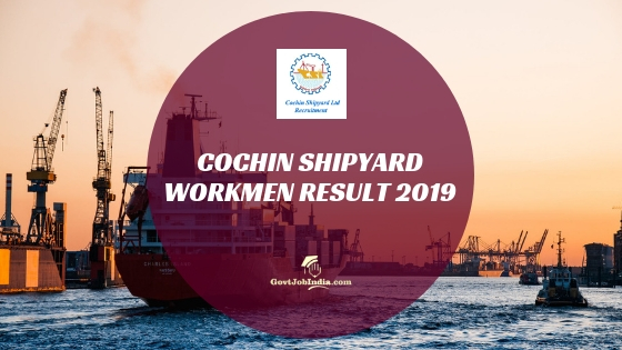csl result 2019 - (workmen on contract) fabrication, outfit & ship