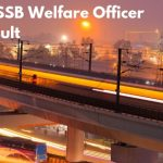 DSSSB Welfare Officer Merit List