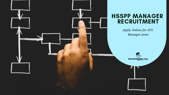 HSSPP Manager recruitment 2019 Online Application