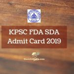 Download KPSC SDA Hall Ticket 2019
