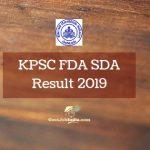 KPSC Result 2019