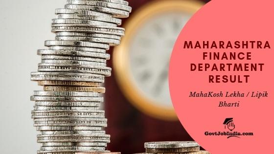MahaFinance Exam result 2019 @ mahapariksha.gov.in