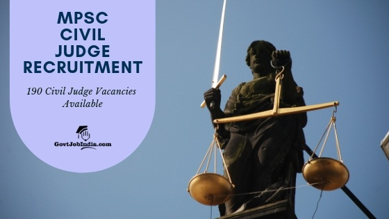 MPSC Civil judge Recruitment Apply online