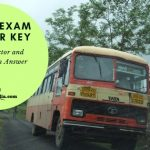 MSRTC Driver cum Conductor Answer key 2019 Download