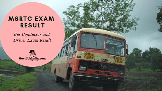 MSRTC EXAM RESULT Cut Off and Merit List