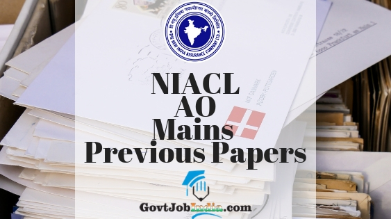 NIACL AO Mains Sample Question Papers