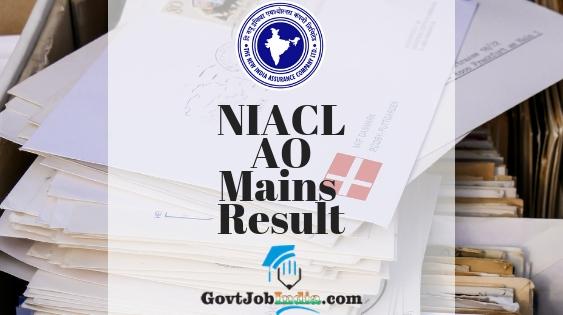 NIACL AO Mains Merit List