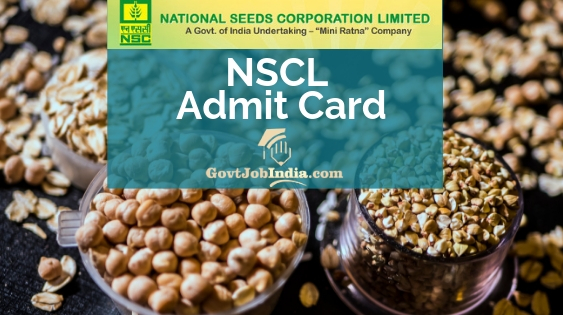 NSCL Admit Card 2019