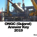 ONGC Gujarat Answer Key 2019