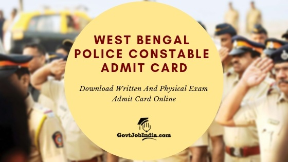 West Bengal Police Constable Admit Card Download Online