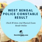 Check West Bengal Police Constable Exam result Merit list and Cut off marks online