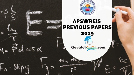 APSWREIS model question papers 2019