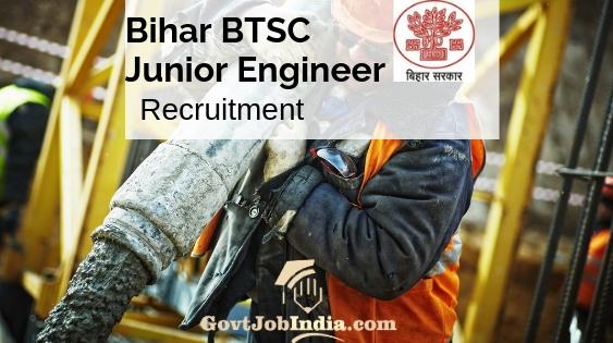 Bihar BTSC Junior Engineer Recruitment
