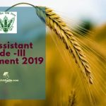 FCI AG 3 Recruitment 2019