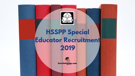 HSSPP Recruitment 2019