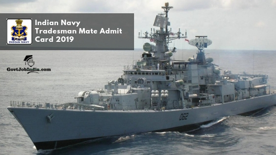 Indian Navy Call Letter 2019