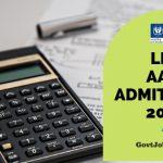 LIC AAO Hall Ticket 2019