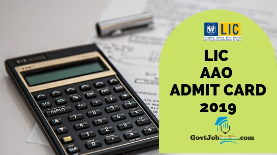 LIC AAO Hall Ticket 2019