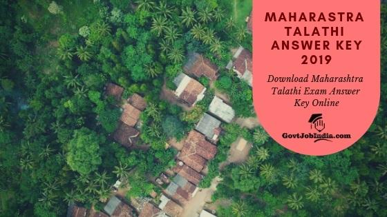 Download Maharashra Talathi Answer key Online @ mahapariksha.gov.in