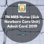 TN MRB Admit Card 2019
