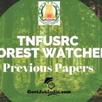 Tamil Nadu Forest Watcher Previous Question Paper