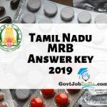 TN MRB Pharmacist Answer Key 2019