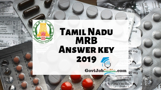 TN MRB Pharmacist Answer Key 2019