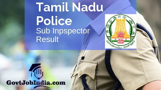 Tamil Nadu TNUSRB Sub Inspector Result