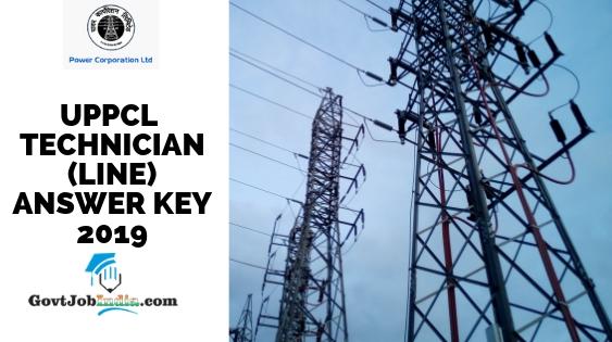 UPPCL Technician Answer Key 2019