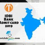 IDBI Bank Hall Ticket 2019