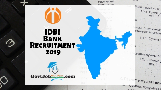 IDBI Bank Asst Manager Recruitment 2019