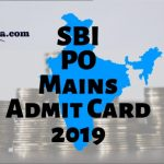 SBI PO Mains Hall Ticket 2019
