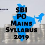 SBI PO Mains Syllabus 2019