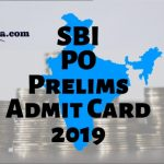SBI PO Prelims Hall Ticket 2019
