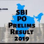 SBI PO Prelims Cut off 2019